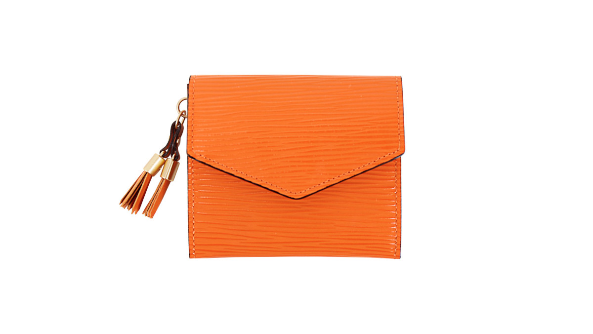 new product ea074 de0a0 オリオン ギャルソンミニ財布 オレンジ