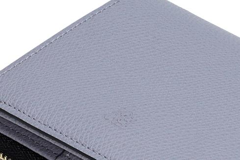 エポイ(Epoi)シキのラウンドファスナー二つ折り財布レディースきりいろグレーパープル