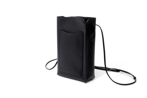 Epoi(エポイ)ゼロニのレディース スマホポシェット(ミニショルダーバッグ)黒